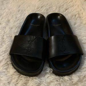 Saint Laurent Jimmy Leather Sandals Size 39!